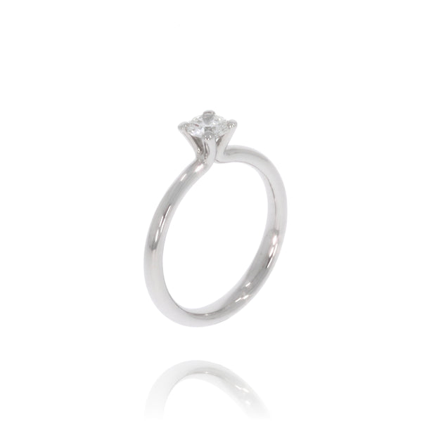 "Solitaire-Ring ""Welle medium"" mit 0,40ct. Diamant"