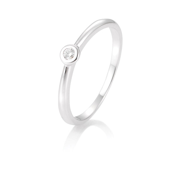 Diamantring · Zargenfassung · 0,05ct · 41857716