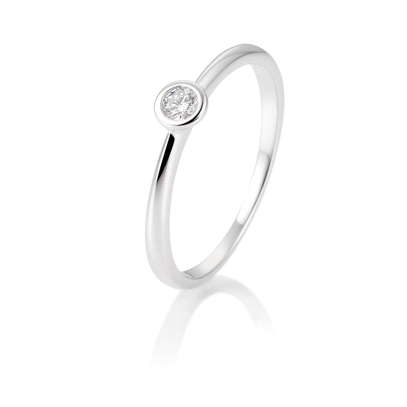 Diamantring · Zargenfassung · 0,10ct · 41851279