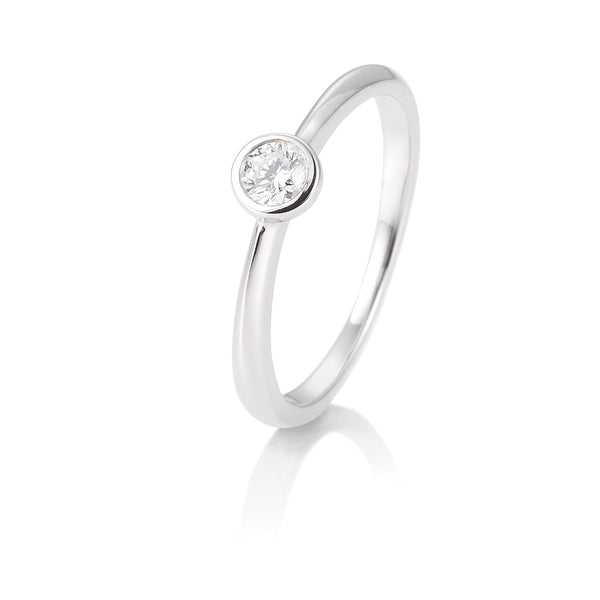 Diamantring · Zargenfassung · 0,15ct · 41851286