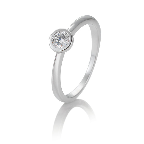 Diamantring · Zargenfassung · 0,30ct · 41851316
