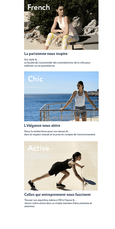 Anima Athletica marque sportswear femme French Chic Active