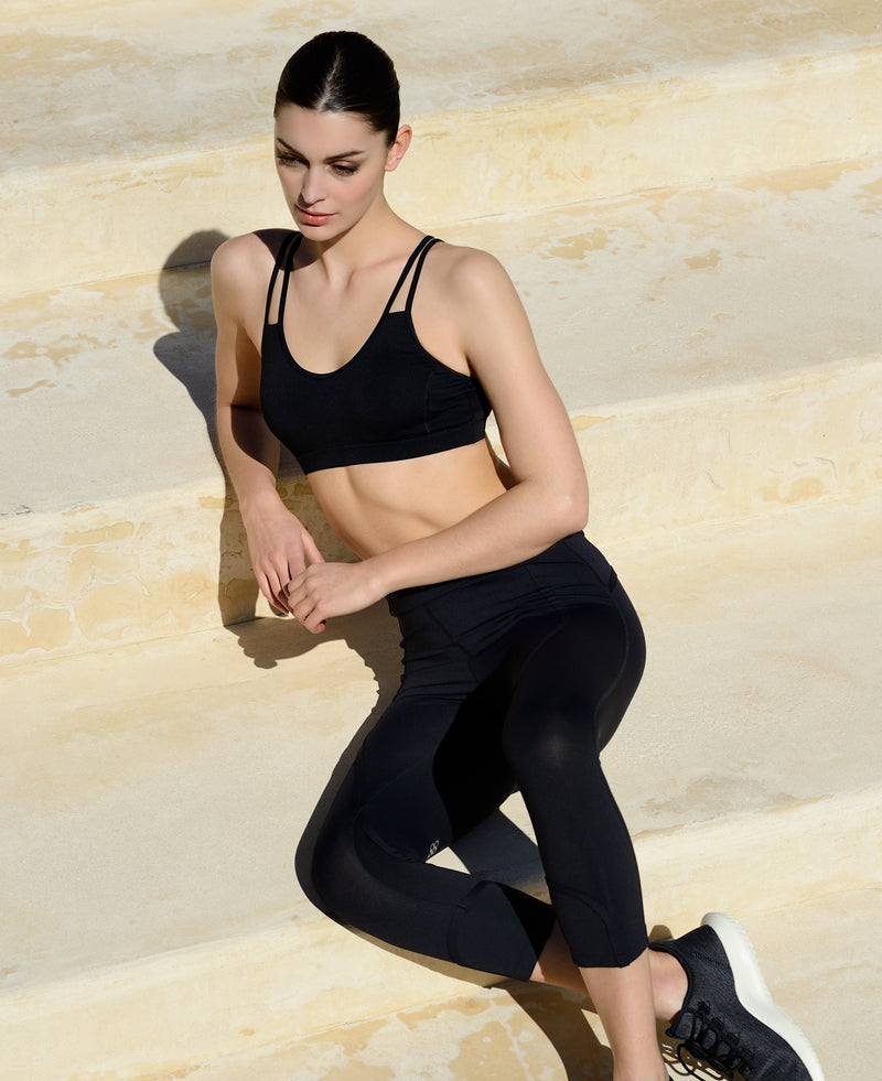 Bagatelle capri noir sport femme yoga confort technique