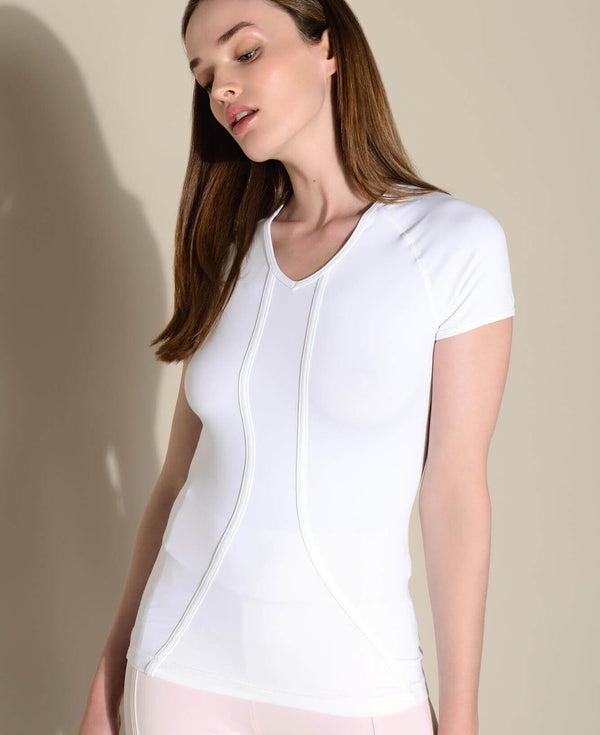 Tee Bagatelle Blanc sport femme running activewear Anima Athletica