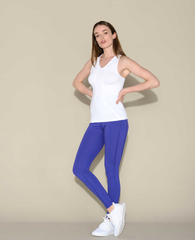 Anima Athletica Leggings Madeleine V-Blue sport femme fitness pilates activewear