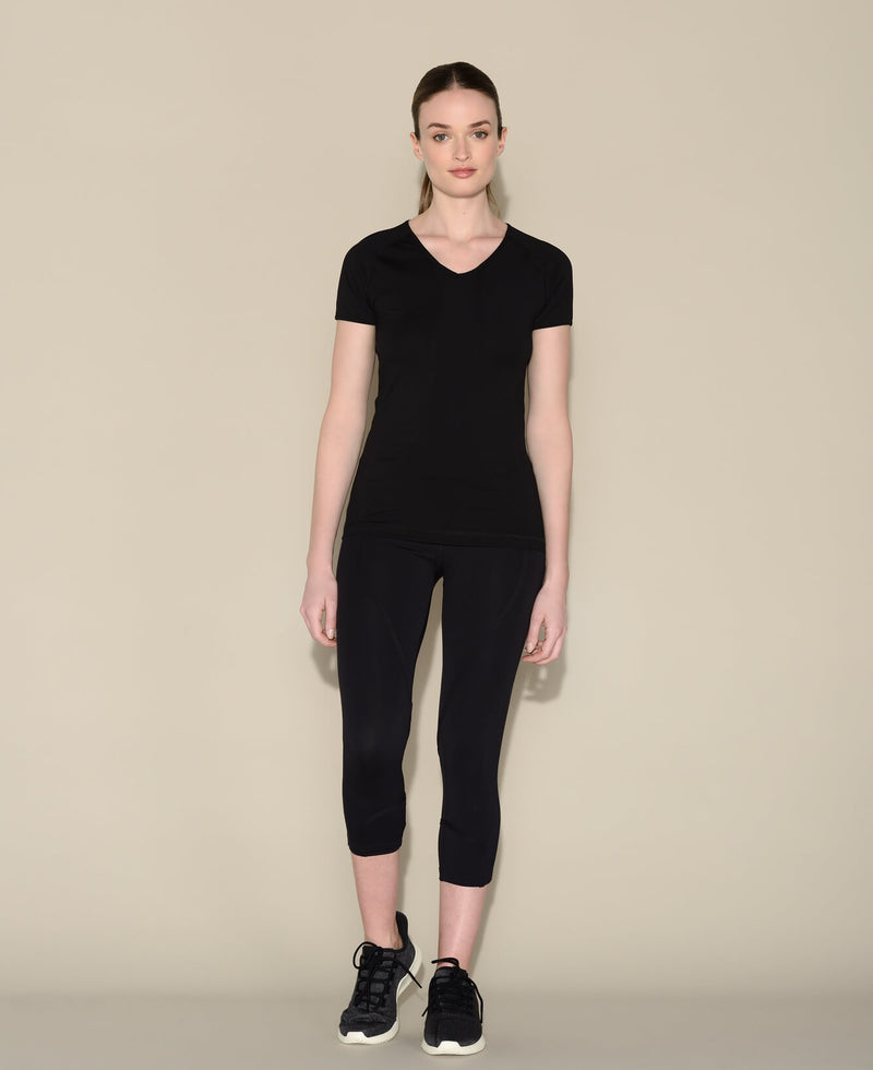 Tee Bagatelle Noir Anima athletica sport femme pilates yoga activewear