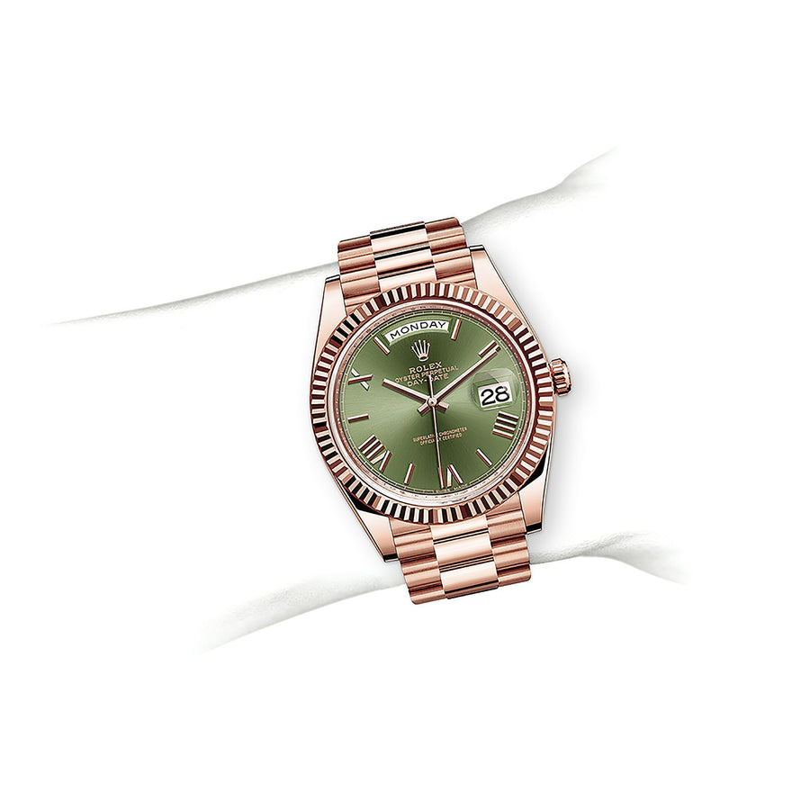 OYSTER PERPETUAL DAY-DATE 40 Oyster, 40 mm, Everose gold - watches-2019