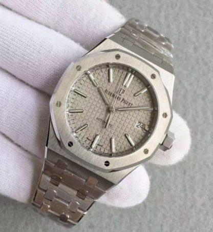 Audemars Piguet JF Royal Oak 37mm 15450 Gray Dial SS Bracelet A3120