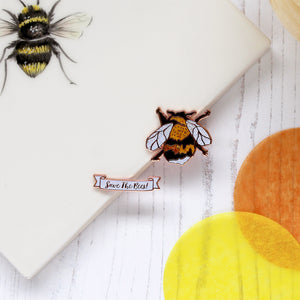 Ernie the Bee Enamel Pin Set