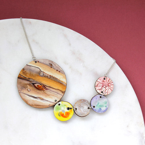 Galilean Moons Statement Necklace