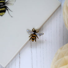 Gold Honeybee Enamel Pin