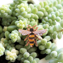 Rose Gold Honeybee Enamel Pin