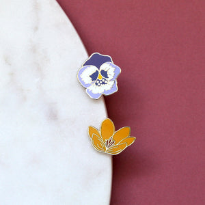 Crocus Enamel Pin