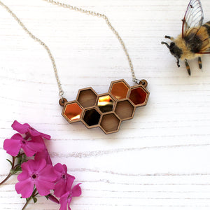 Gold Honeycomb Jewellery Set