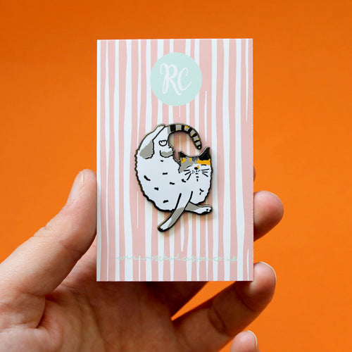 Sleeping Cat Enamel Pin
