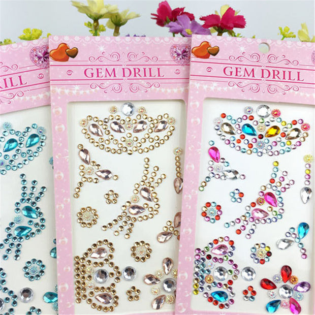 1Pcs Crystal Crown Motif Rhinestone Multicolor Stickers Phone Case Decoration Car/PC Decor Decal Scrapbooking Craft 8Z