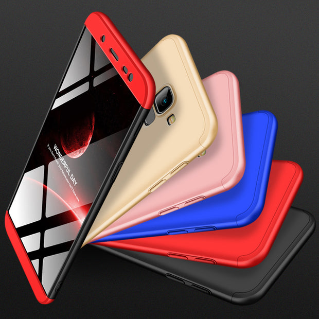 info for 25ce6 1b86e 360 Degree Full Protection Hard Case For Samsung Galaxy J6 2018 Back Cover  Shockproof Case For Samsung J6 2018 Case + Glass Film