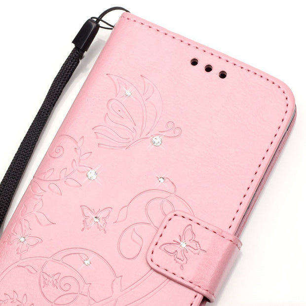 3D Bling Crystal Rhinestone Case For Huawei P9 EVA-L09 EVA-L19 EVA-L29 EVA-AL00 Flip Leather Book Cover Stand Magnetic Phone Bag