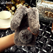 AKABEILA Luxury Rabbit Fur Case For Moto G5S Plus Case Silicon Soft TPU Bling Cases Coque For Motorola G5S Plus Cover G 5S Plus