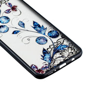 Back Cover For Samsung Galaxy A7 2018 Covers 3D Rhinestone TPU Phone Case Black Lace For Samsung Galaxy A7 2018 A750