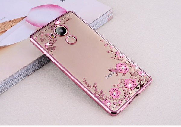 the latest 212e0 876db Case For Huawei Y6 2017 Mya-l11 Mya-l41Case Luxury Plating Gilded TPU  Silicone Cover Accessory Coque Fundas For Y6(2017) 5.0inch