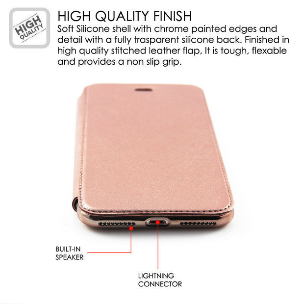 Case For IPhone X 6 6s 7 8 Plus 5 5s SE Luxury Rose Gold