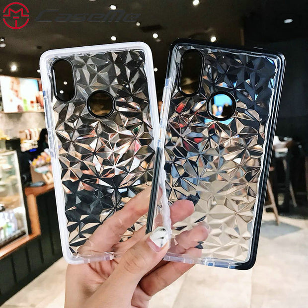 CaseMe 3D Diamond Case For Samsung Galaxy S8 S9 Plus J7 J2 Prime J5 Galaxy Note 9 Soft Silicone Back Phone Case For Xiaomi 8SE