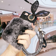 Diamond Ear Furry Buckle Strap Phone Case For IPhone 6 6s 7 8 Plus X XS Max XR For Samsung Galaxy S7 Edge S8 S9 Plus Note 8 9
