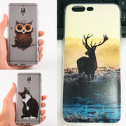 Dreamysow Cover Case For Oneplus 5T 5 3 Coque Cases For One Plus For 1+ 5T 5 3 T Three Phone Back Pattern Soft TPU Coque Cases