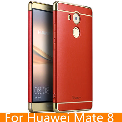 For Huawei Mate 8 Case Original IPaky Brand Back Case For Huawei Mate 8 Cover Fundas Carcasas Hollow Hard Armor For Mate 8 Case