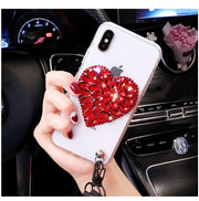 For Samsung A3 A5 A7 2016 Capa Glitter Diamond Luxury Case For Samsung J3 J5 J7 2017 J4 J6 J8 Slim Crystal Clear Love Soft Cover