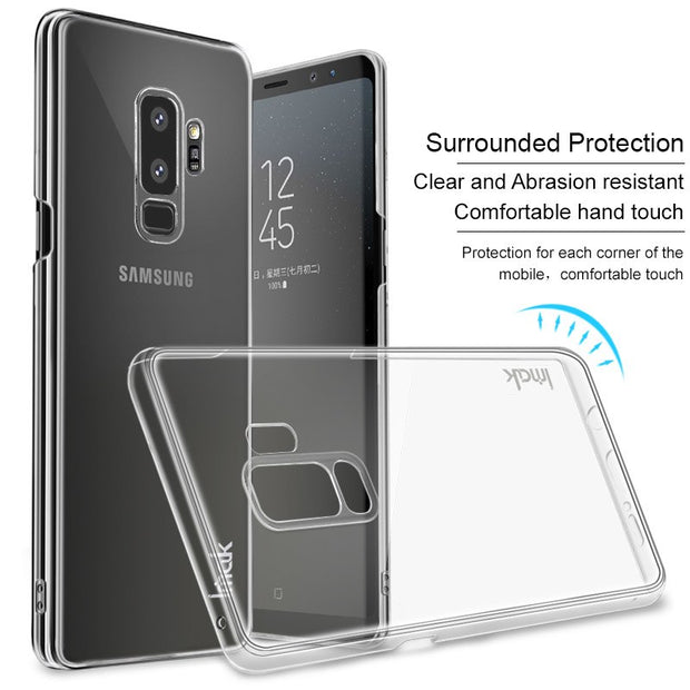 For Samsung Galaxy S9 Case Samsung Galaxy S9 Plus Case Imak Full Surround PC Hard Plastic Phone Cases Crystal Clear Back Cover
