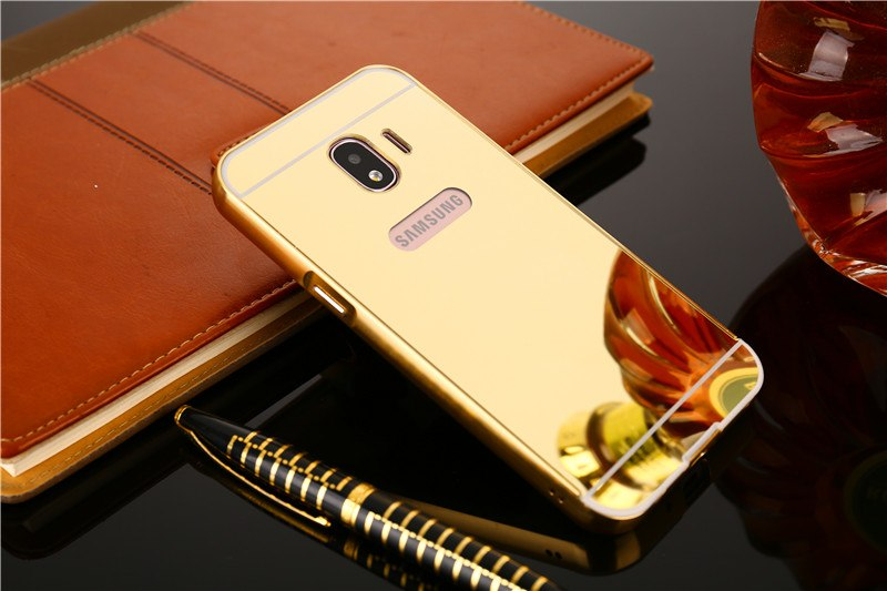 quality design fdb8f 75d9f For Samsung J2 Pro J2Pro 2018 Mirror Case Plating Aluminum Frame Cover With  Mirror Back Cover Phone Case For Samsung J2 Pro 2018