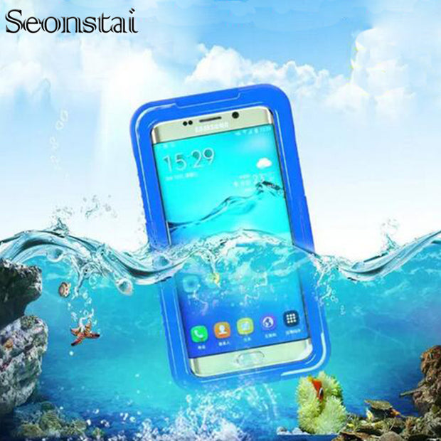 For Samsung S6 Edge Waterproof Case For Galaxy S8 Plus Diving Underwater Swimming Cases For Galaxy S7 Edge Note 4 5 Sealed Cover