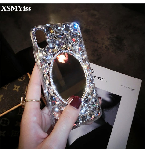 For Xiaomi Redmi 4 4X 4A 5A 5 Plus 6A Note 3 4 4X 5 5A 64GB 32GB Luxury Bling Crystal Diamond Mirror Soft Silicone Phone Case