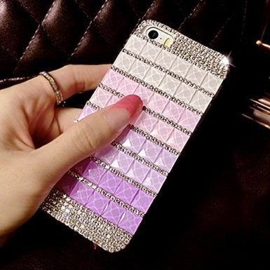 Glitter Crystal Rhinestone Fashion Bling Case Cover Clear Hard Phone Shell Protection For IPhone 6 4.7 Inch 5.5 Inch (square)