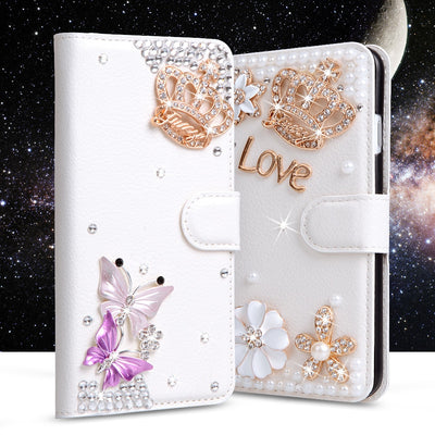 Glitter Rhinestone Case For Lenovo Vibe K5/K5 Plus/Lemon 3/A6020a40/A6020a46 Filp Wallet Leather Cover Diamond Stand Phone Cases