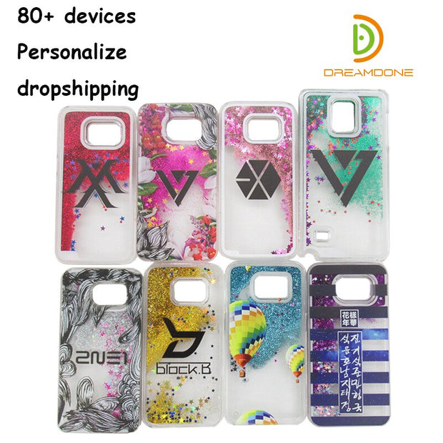 super popular e8071 08b5c Glitter Phone Case Custom For Samsung Galaxy S3/s4/s5/s6 Edge Plus/s7 Edge  Clear Sand Glitter Cell Phone Case Personalizde