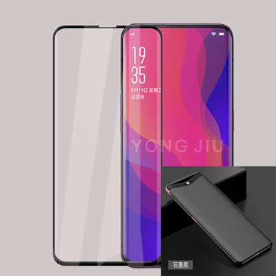 Hard Plastic Matte Case For Oppo Find X With 3D Full Coverage Tempered Glass For Oppo Find X FindX PAFM00 PAFT00