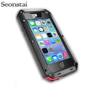 Heavy Duty Case For IPhone 5c 5s Luxury Doom Armor Metal Cases For IPhone 6 7 8 Plus Cover Life Waterproof Coque For IPhone 4 4s