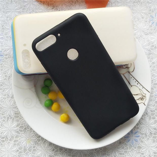 High Quality Candy Case For Huawei Honor Y7 Prime 2018 Enjoy 8 Macarons Color Silicone Frosted Matte Case For Huawei Enjoy 8