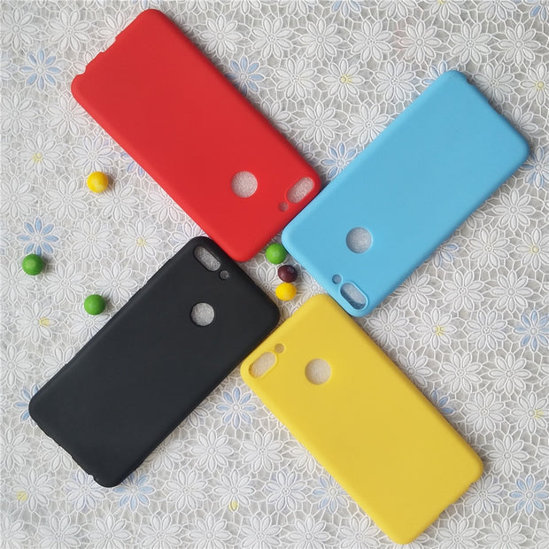 High Quality Candy Full Cover Case For Huawei Nova Lite2 Macarons Color TPU Silicone Frosted Matte Case For Huawei Enjoy 7S