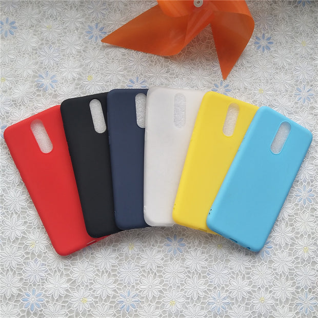 High Quality Candy Full Cover Case For Huawei Mate 10 Lite 5.9'' Macarons Color Soft TPU Case