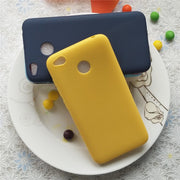 High Quality Candy Full Cover Case For Xiaomi Redmi 4x Macarons Color TPU Silicone Frosted Matte Case For Xiaomi Redmi 4x