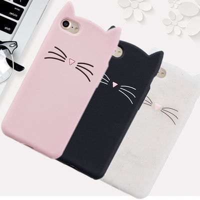 Hot Sales! 3D Cute Cat Phone Silicone Soft Case Cover For Nokia 1 Nokia1 Cases Gel Shell For Nokia 1
