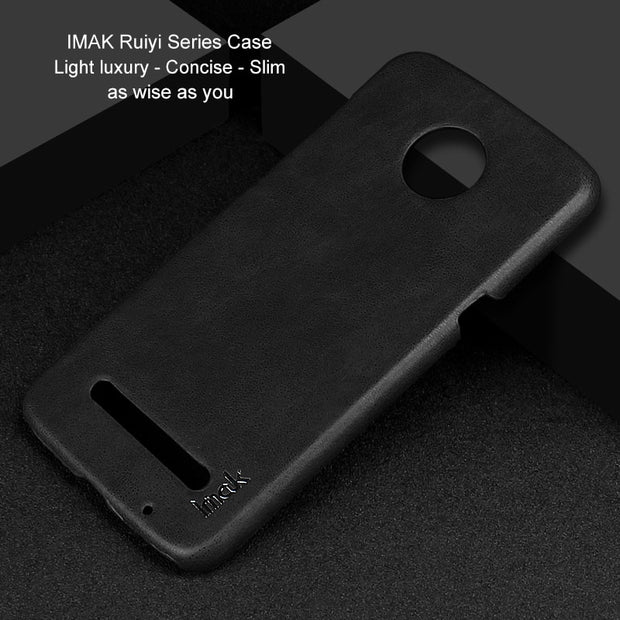 IMAK Ruiyi Series Luxury Skin PU Leather Case For Motorola Moto Z3 Play Hard PC Back Cover Cases Quality For MOTO Z3 Play