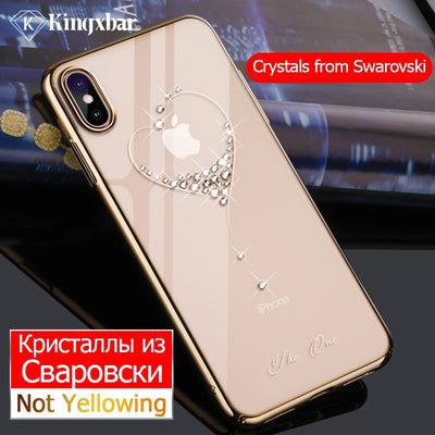 KINGXBAR Cover Luxury For IPhone X Xs Max XR Case Glitter Transparent Crystal Case For IPhone Xs Max Phone Case Ultra Thin