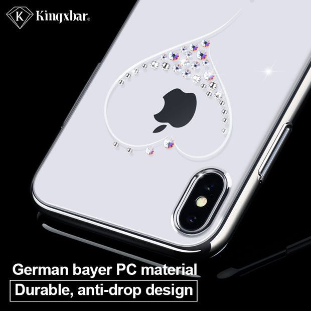 KINGXBAR Luxury Transparent Case For IPhone Xs Max Glitter Jewelled Shinny Rhinestone Cover For IPhone Xs Max Phone Capa