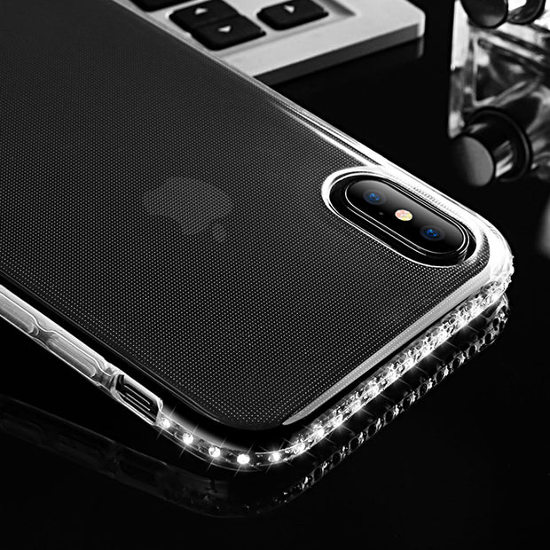 KISSCASE HD Diamond Clear Phone Case For IPhone 5S SE 5 Soft TPU Case For IPhone 6 6S 7 8 Plus X Ten Transparent Soft Back Cover
