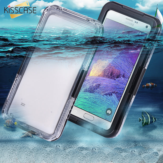 the latest bee8e c810d KISSCASE Waterproof Case For Samsung Galaxy S8 S8 Plus S7 S6 Edge Plus Note  5 4 3 S4 S5 Swimming Diving Case Underwater Cover